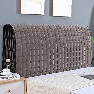 Bed Headboard Cover Elastic for Single/Double/King Headboard Slipcover Protector Solid Color Dustproof Cotton Cover (Color...