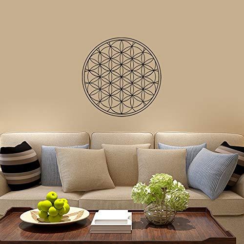 Blume des Lebens Boho Abziehbilder Vinyl Mandala Wandaufkleber Samen des Lebens Wanddekoration Geometrisches Muster Mandala Dekor Modern A12 57x57cm