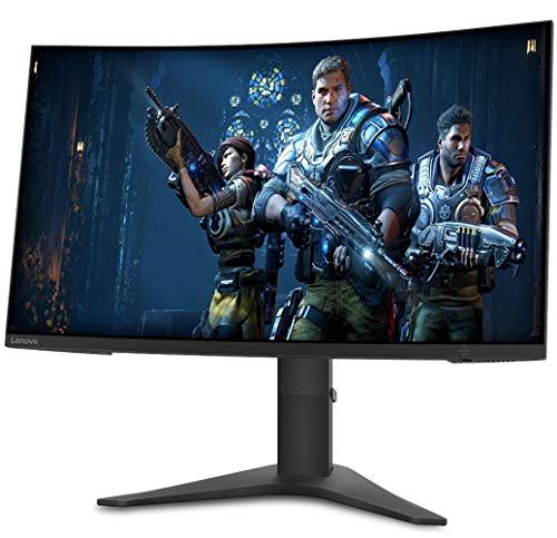 "Lenovo G27c-10 Curved Gaming Monitor, 27"" VA FHD, 165Hz, 1ms MPRT, AMD FreeSync, 1Display Port, 1HDMI, Audio Out, Tilt & Height Adjustable, VESA Mount, TÜV Rheinland Low Blue Light Certification"