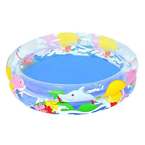 Bestway 51013 - Transparenter Kinder-Pool Sea Life, 102 x 20 cm