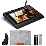 Parblo Coast10 Graphics Drawing Tablet LCD Monitor with Cordless Battery-Free Pen, 10.1 Inches Pen Display with Wool Liner Bag