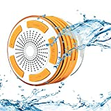 WYZM Bluetooth Shower Speaker, IPX7 Waterproof,with FM Radio,LED Mood Lights,Good for Bathroom,Pool and Outdoor