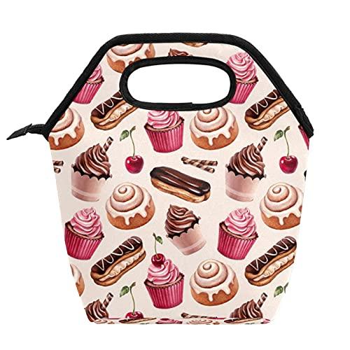 Borsa per il pranzo portatile Borsa per il pranzo ad alta capacità Borsa per il pranzo per il lavoro d'ufficio da viaggio per la scuola torta al cioccolato