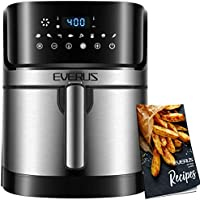 Air Fryer EVERUS 1700-Watts Hot Air Fryer Oven XL 5.8QT, Stainless Steel Electric Air Fryer Oilless Cooker with 8...