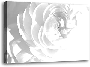 Canvas Wall Art Contemporary Simple Life White Flowers Floral Canvas Painting Pictures for Wall Decor - 1 Piece Framed Wall Art for Bedroom Wall Bathroom Artwork for Wall Canvas Size: 24 x 16 inches
