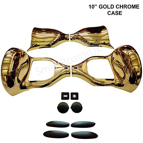 "10 \""Hoverboard Kunststoffschale - Swegway Case 10 Zoll Rahmen 2 Rad Smart Balance Scooter Plastics (GOLD CHROM)"