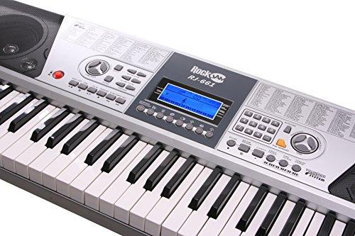 Rockjam 61 Kit Piano Clavier 61 Clés Casque Stand Clavier Banc de Clavier de Piano Numérique Stickers Note Piano et Simplement L'Application de Piano