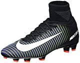 Nike Kids Mercurial Superfly V FG Black/White/Electric Green Soccer Shoes - 5Y