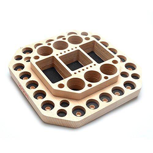 VPDAM Dampfständer Holz Tisch Ständer, Holder, Box für Verdampfer, Akkuträger, Drip Tip E zigaretten