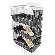 KCT Triple Level Indoor Rabbit Pet Cage 80cm - Dark Grey