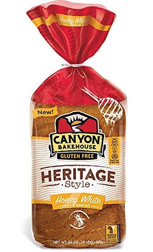 Canyon Bakehouse Gluten Free Heritage Style Honey White Bread,, 24 Oz (pack Of 6)