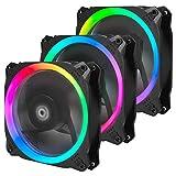 Antec 120mm RGB Case fan, RGB High Performance PC Fan, 4-pin RGB, Spark Series, 3 Packs