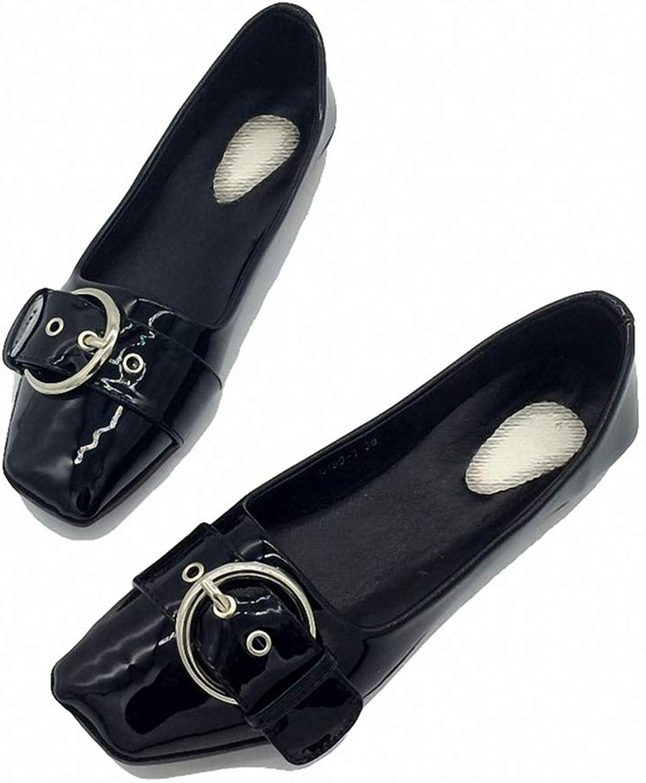 Kyle Walsh Pa Women Casual Flats shoes SquareToe Buckle Design Female Retro Comfortble Loafers
