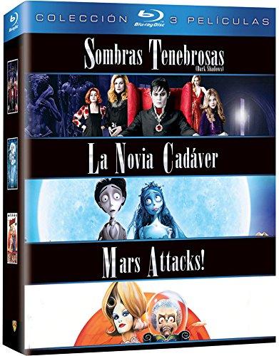 Pack Tim Burton: Sombras Tenebrosas + La Novia Cadáver + Mars Attacks! Blu-Ray [Blu-ray]