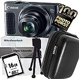 1A PHOTO PORST Jubiläums Angebot Canon PowerShot SX620 HS Schwarz+Ministativ+Display-Schutzfolie+SD 16 GB Speicherkarte+Tasche+Mikrofasertuch