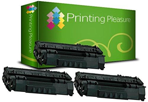 Printing Pleasure 2X Tóner Compatible con HP Laserjet 1160 1320 3390 3392 P2015 P2014 P2013 P2012 P2010 M2727 Canon LBP-3300 LBP-3310 LBP-3360 LBP-3370   Q5949A 49A Q7553A 53A CRG 715 CRG 708