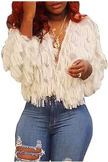 neveraway Women Sexy Open Front Long Sleeve Pure Stylish Knitting Shirt