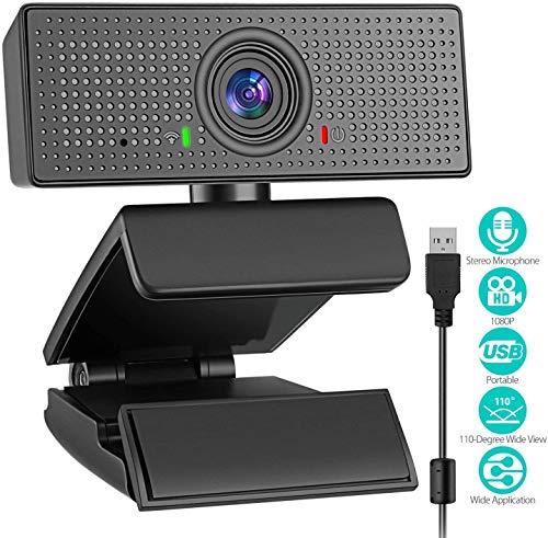 Webcam mit Mikrofon, Plug & Play 1080P HD Widescreen Web Cam USB Computer Webcam C06 Video Cam für Streaming Gaming Conferencing Mac Windows PC Laptop Desktop