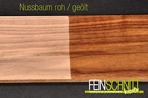 FEINSCHNITTkreativ Massivholz Nussbaum 450 x 150 x 10 mm (2 Stück)