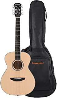 Orangewood Dana Mini/Travel Acoustic Guitar with Spruce Top, Ernie Ball Earthwood Strings, and Premium Padded Gig Bag Included