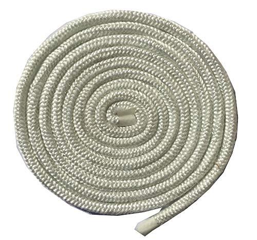 "Aboniris 1/4"" Wood Stove Door Gasket, 6mm Stove Rope, Round Fiberglass Rope Seal, White, Length 86'"