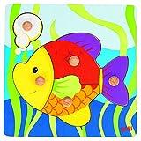 Goki 57554 - Steckpuzzle - Fisch