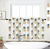 NANAN Kitchen Curtains 36 Inch Length, Pineapple...