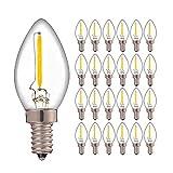 YSSMAO C7 LED Bombilla Regulable 0.5W Refrigerador Filamento LED Bombilla de luz 2700K Colgante de araña Lámparas de Edison...