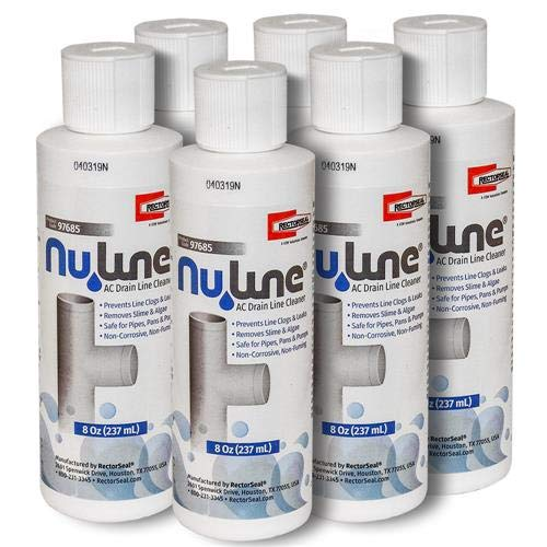 Fast Shipping! (6)-Pack NuLine HVAC Condensate Nu-Line Drain Cleaner, 8 Ounce