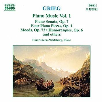 Grieg: Piano Sonata, Op. 7 / Stimmungen / 4 Piano Pieces, Op. 1
