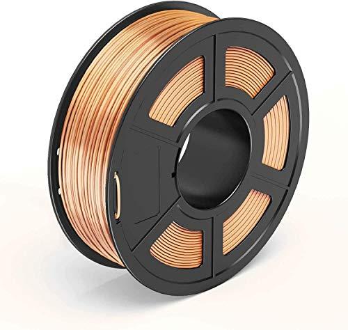 U2U PLA Filament 1.75mm, 3D Printing PLA Filament for 3D Printer, 1kg Spool 3D Printing Material PETG, Dimensional Accuracy +/- 0.02 mm (Copper)