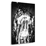 Fußball-Star Gareth Bale, Poster, Art-Deco-Dekorationen,