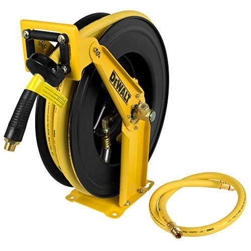 "DeWalt DXCM024-0344 Double Arm Hose Reel with 1/2"" x 50' Premium Rubber Hose"