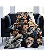 YKKASS Sebastian Stan filt, fleecefilt, vardagsrumstäcke, sofffilt, överkast, fluffig, mjuk & varm sofföverkast (03,150 x 200 cm)
