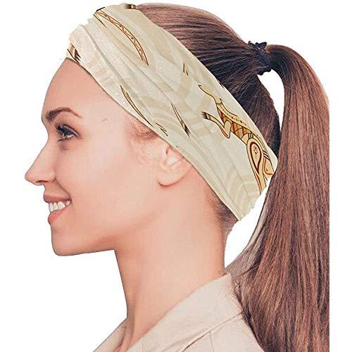 BaoBei-shop Springen Känguru Niedliche Tier Elastische Stirnbänder Kopfwickel Schal Sport Schweißband Gesichtsmaske Magic ScarfBands Krawatten