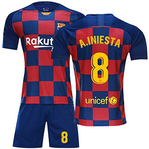 Andres Iniesta Voetbalshirt voor heren en dames, voetbalshirt + shorts