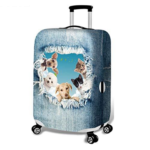 3D Koffer Schutzhülle, Trolley Staubschutzhülle Nachgemachter Cowboy Drucken Tier Stretchstoffe Verdicken Verschleißfest Gepäckabdeckung A-M(22-24 Inch)