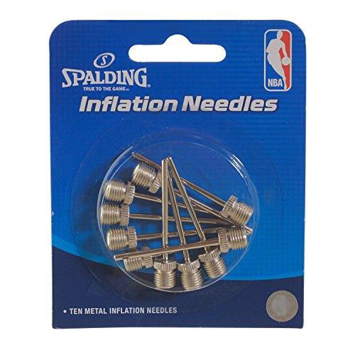Spalding Unisex-Erwachsene 10PK Inflation Needles Aufblasnadeln, 10 Stück, Silber, Einheitsgröße