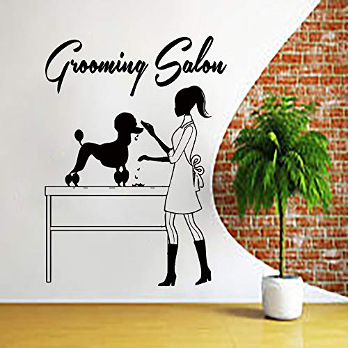 31 * 42cm Dog Wall Decal Grooming Salon Wall Sticker Pet Shop Wall Art Pet Grooming Salon Decorazione Animali Negozio Finestra Decorare