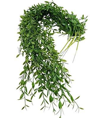 Ivy es verde durante todo el año, llena de vitalidad ambién es una de las plantas de follaje más comunes para el hogar y la oficina deje que se sienta en la naturaleza esta hiedra artificial es perfecta para transmitir alegría a su decoración sin ocu...