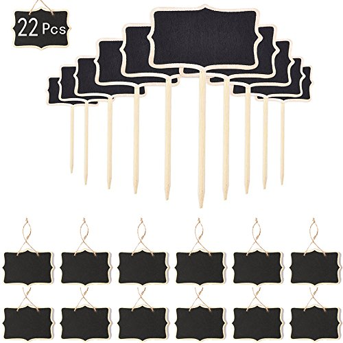 Mini Chalkboard Signs 22 Pcs Small Rectangle Chalkboards For Wedding Party Table Numbers Place Cards Food Name Card Decorative Sign Wantitall