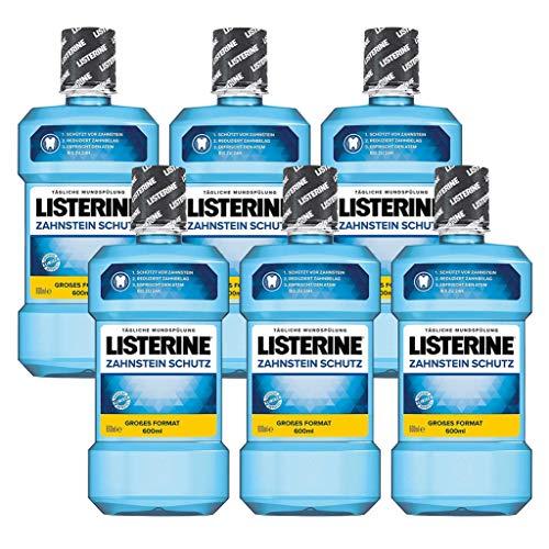 Listerine Zahnsteinschutz, 6er Pack (6 x  600 ml)