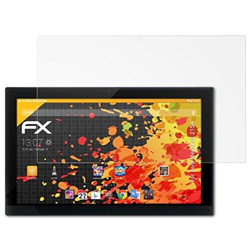 atFolix Panzerfolie kompatibel mit Xoro MegaPad 2154 Schutzfolie, entspiegelnde & stoßdämpfende FX Folie (2X)