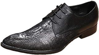FIESSO Oxford pour Hommes Chaussures Habillées À Lacets Style Haute Qualité en Cuir Véritable Couture De Mode Exquise en R...
