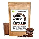 BIO WHEY Protein-Pulver Schokolade [aus Deutschland] ohne Soja - Hochwertige Bio Eiweiß-Shakes » 100% NATÜRLICH « 650g Bio Eiweiß-Pulver aus Premium Molkenprotein-Pulver