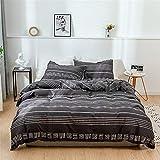 WANGCAN Bettbezug-Set mit Reißverschluss, Design, Ultra Weich und pflegeleicht, einfacher Stil Betten Set,DREI Sätze Baumwollbettwäsche C-16 240 * 220cm+50 * 75 * 2cm