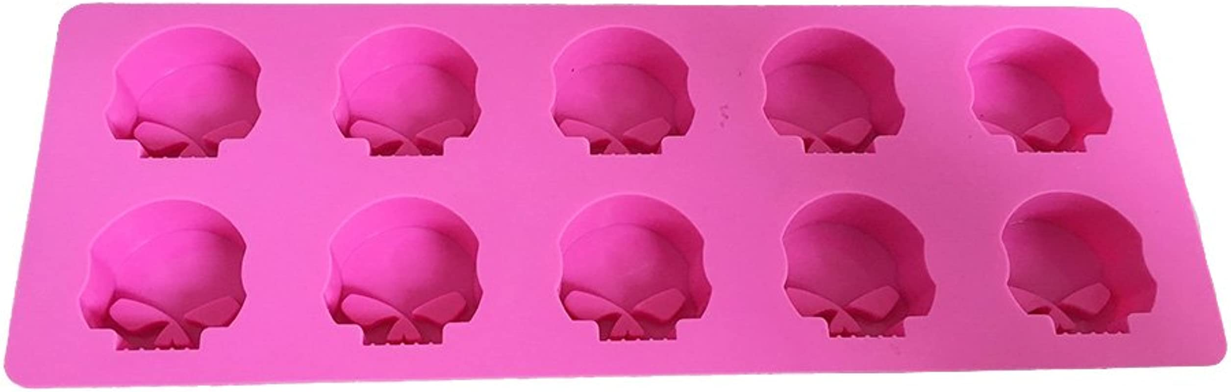 X Haibei Halloween Skull Ice Cube Chocolate Candy Crayons Soap Mould Silicone Mold Party Maker Dia 1 4 Inch Height 0 8 Inch