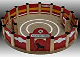 Plaza toros de madera pequeña, artesanal' medidas 50x8,5 cms. En kit para montar