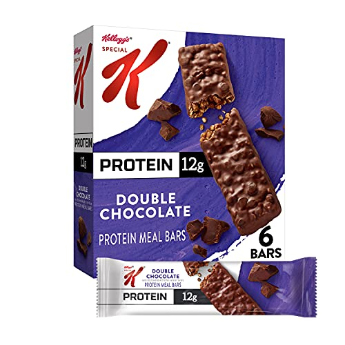Kellogg's Special K Protein Bars, Meal Replacement, Protein Snacks, Double Chocolate, 9.5oz Box (6 Bars)