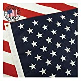 Grace Alley American Flag: 100% Made in USA Certified 3x5 Ft US Flag Strong, Long Lasting, and Durable with Brass Grommets. This 3x5 ft US Flag Meets US Flag Code.